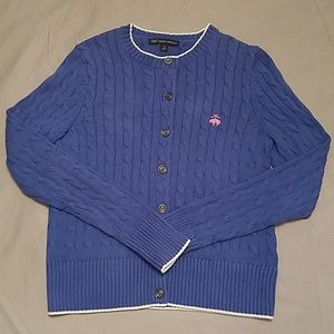 BROOKS BROTHERS Cable Knit Bitton Up Cardigan
